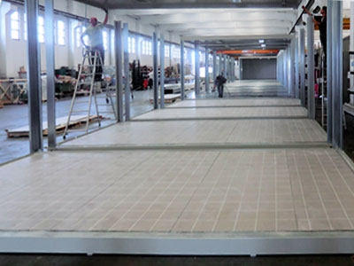 Installazione di pannelli pavimento MPTile su strutture mobili